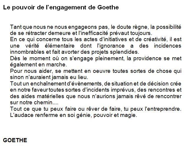 engagement goethe